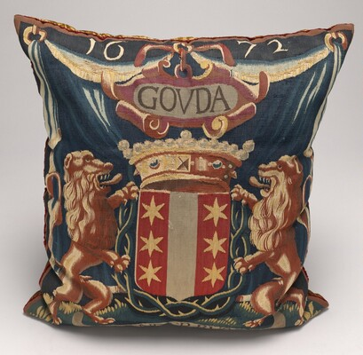 Tapestry-covered Cushion