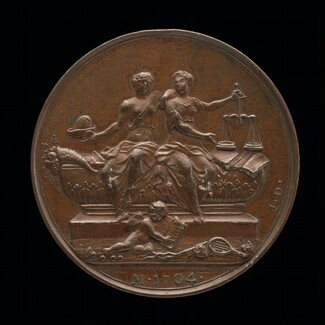 Personifications of Liberty and Justice on a Sarcophagus [reverse]