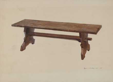 Moravian Church Bench