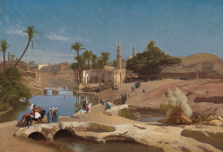 Jean-Léon Gérôme, View of Medinet El-Fayoum, c. 1868/1870c. 1868/1870