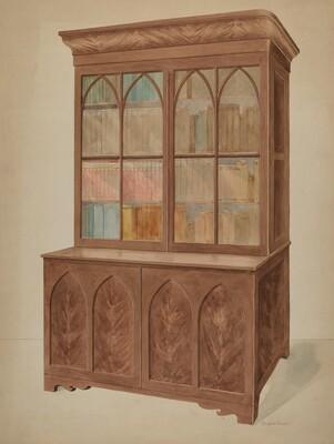 Bookcase - Gothic Type