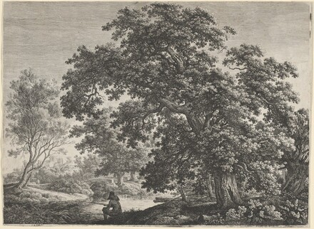 Giant Oak with a Seated Fisherman
