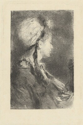 The Artist's Wife in Profile Facing Right
