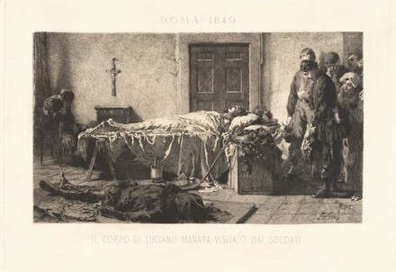 Il corpo di Luciano Manara visitato dai soldari (The Body of Luciano Manara Visited by Soldiers)