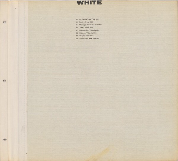 Title page for White / Text page with illustration number