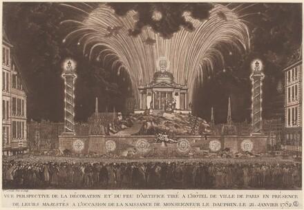 La Décoration et du Feu d'Artifice... la Naissance de Monseigneur le Daufin (Fireworks Celebrating the Birth of the Dauphin)