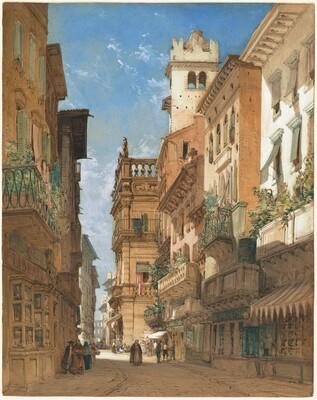 Corso Sant' Anastasia with the Palazzo Maffei in Verona