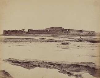 Exterior of North Taku Fort on Peiho River, Showing the English and French Entrance, August 21, 1860