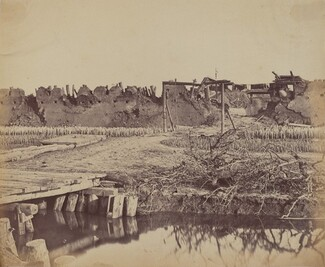Exterior of North Fort Showing the English Entrance, August 21, 1860