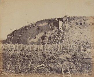 Angle of North Taku Fort at Which the French Entered, August 21, 1860