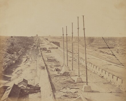 Top of the Wall From Anting Gate, Pekin, Taken Possession by English and French Troops, October 1860