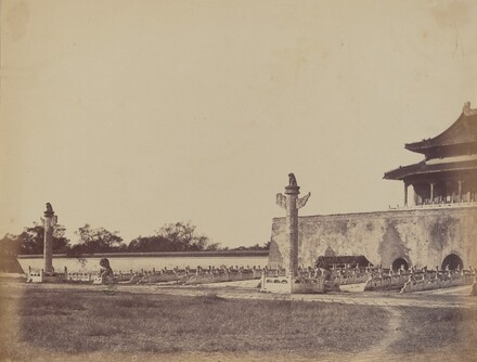 Entrance to the Winter Palace, Pekin, October 29, 1860