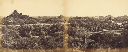View of the Imperial Winter Palace, Pekin, Showing the Artificial Hill, October 29, 1860