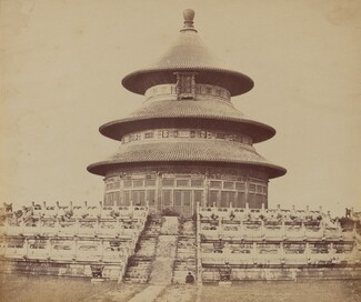Sacred Temple of Heaven Where the Emperor Sacrifices Once a Year, in the Chinese City of Pekin, October 1860