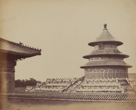 Temple of Heaven from the Place Where the Priests Are Burnt, in the Chinese City of Pekin, October 1860