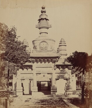 Thibetan Monument in the Lama Temple, Pekin, October 1860