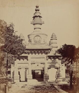 Thibetan Monument in the Lama Temple, Pekin, October 1860