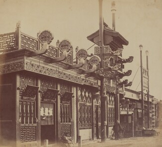 Shops and Street, Chinese City of Pekin, October 1860