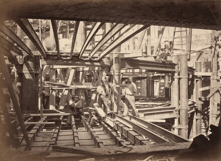 Workers on Girders of Auditorium, New Paris Opera