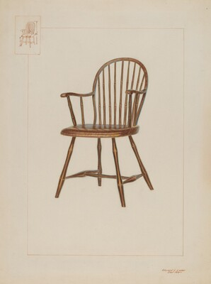 Windsor Bamboo-turned Chair