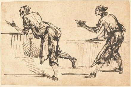 Two Workmen at Tables (recto)