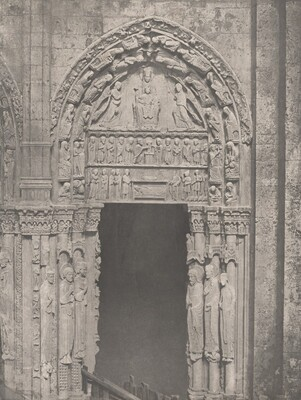 Cathedrale de Chartres, Côté Occidental, Porte Latérale de Droite, XIIe Siècle (Chartres Cathedral, West Side, Right Side Door, XII Century)
