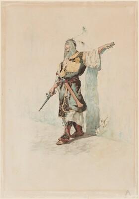 A Moorish Soldier before a Sunlit Wall