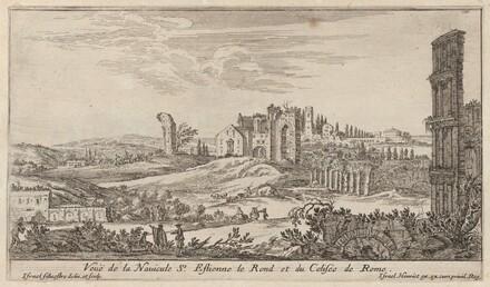 Veuë de la Navicule St. Estienne le Rond et du Colisée de Rome