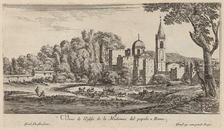 Veue de l'Eglise de la Madonna del popolo à Rome