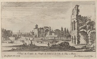 Veuë du Colisée du Temple du Soleil, et de l'Arc de Titus a Rome