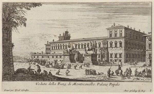 Veduta della Piaza di Montecavallo
