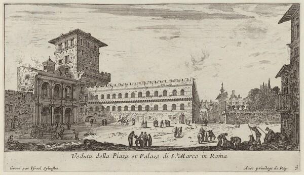 Veduta della Piaza et Palazo di St. Marco in Roma