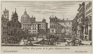 Veuë d'une partie de la place Navonne a Rome