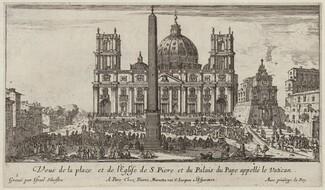 Veuë de la place et de l'Eglise de S. Piere et du Palais du Pape appellé le Vatican