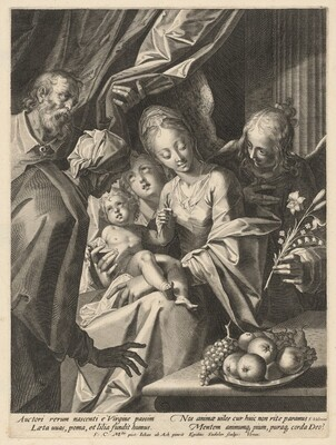 The Holy Family with Saint Anne and Two Angels
