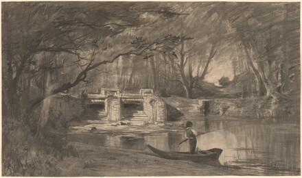 Wooded Pond by the Ancient Sluice of Levaux near Vienne