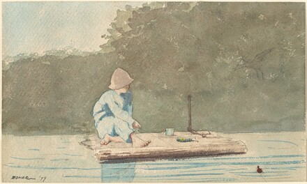 Boy on a Raft