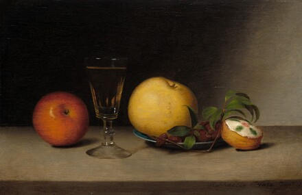 Still Life with Apples, Sherry, and Tea Cake