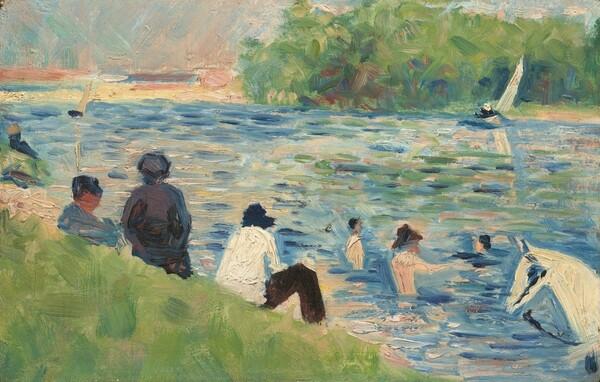 Bathers (Study for Bathers at Asnières)