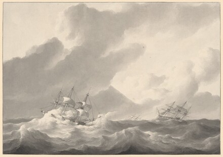 Ships in a Stormy Sea