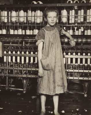 Addie Card, 12 years old. Spinner in cotton mill, North Pownal, Vermont