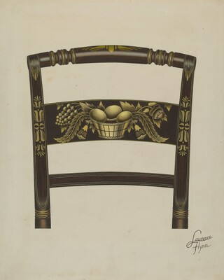 Design on Back of Hitchcock Chair