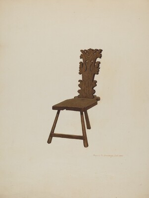 Three Legged Chair
