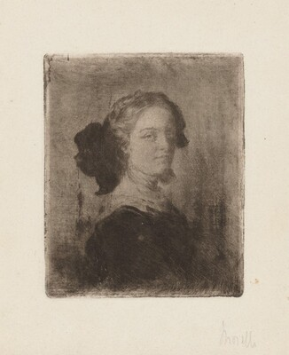 A Young Woman with a Bow in Her Hair