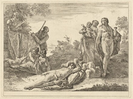 Nine Figures around a Herm of Pan