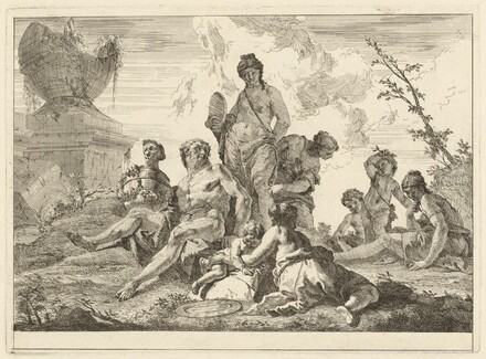 Venus and Vulcan with Three Nymphs and Three Cupids