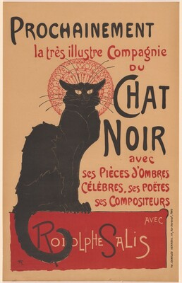 Prochainement la très illustre Compagnie du Chat Noir (Poster for the Company of the Black Cat)
