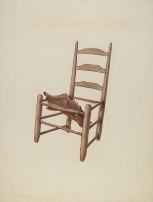 Handmade Chair - Rawhide Seat