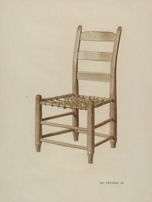 Braided Rawhide-bottomed Chair