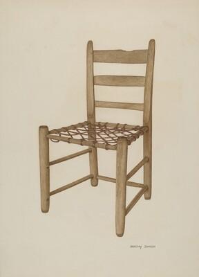 Braided Rawhide Bottom Chair
